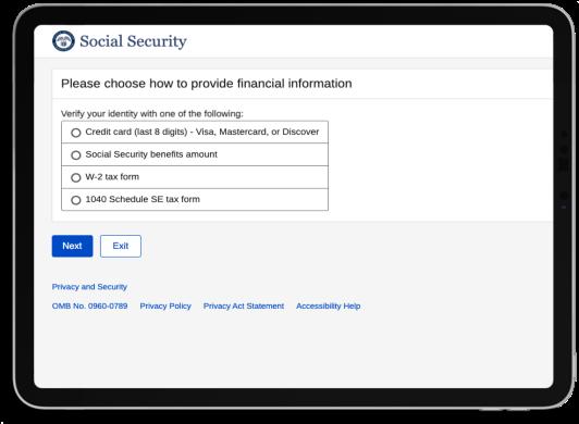 iPad Financial Verification
